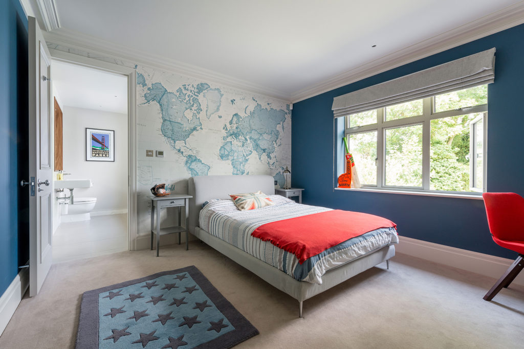 Sandown beautiful designer blue bedroom london