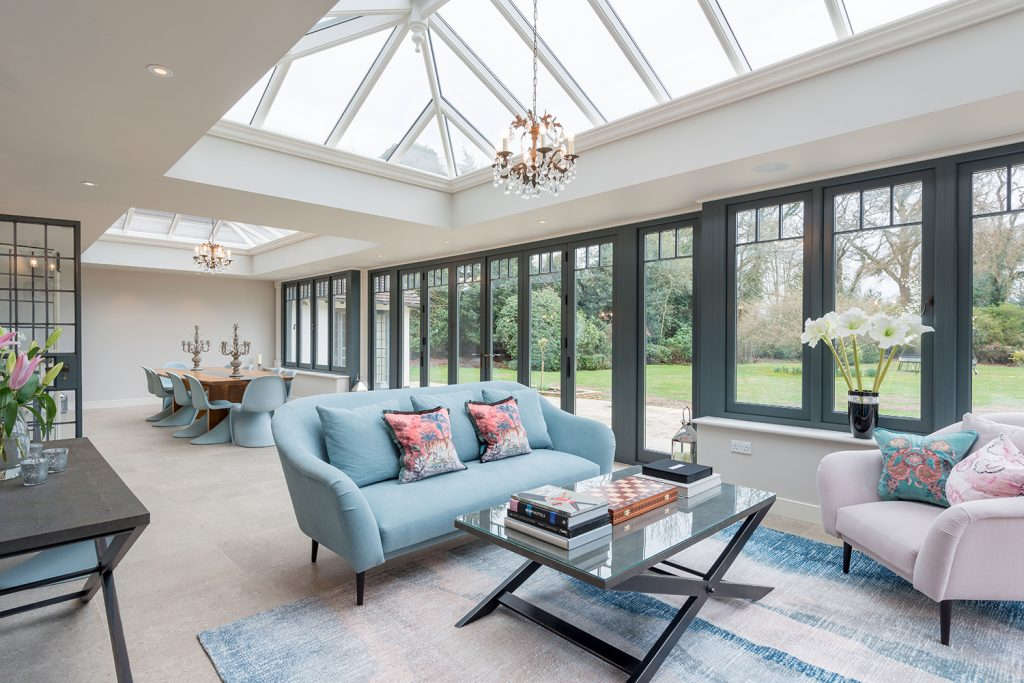 large bright conservatory